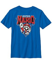 Nintendo Big Boy's Super Mario Red White Blue Team Mario Short Sleeve T-Shirt