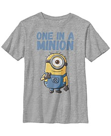 Despicable Me Big Boy's Minions Stuart One In A Minion Short Sleeve T-Shirt