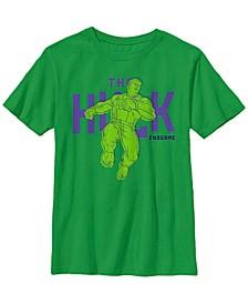 Marvel Big Boy's Avengers Endgame The Hulk Pop Art Short Sleeve T-Shirt