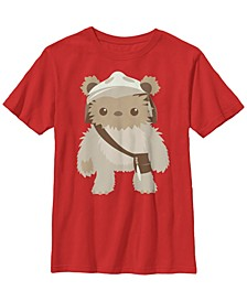 Star Wars Big Boy's Lumat Ewok Cute Cartoon Warrior Short Sleeve T-Shirt