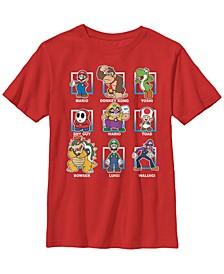 Nintendo Big Boy's Super Mario Classic Characters Group Shot Short Sleeve T-Shirt