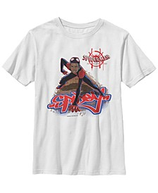 Marvel Big Boy's Spiderverse Miles Brick Climb Short Sleeve T-Shirt