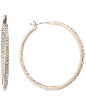 """Givenchy Accessories MEDIUM PAVE HOOP EARRINGS 1-1/4"""""""