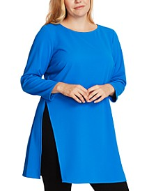 Plus Size Side-Split Tunic