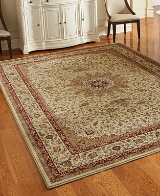 Couristan Closeout Area Rugs Tamena Tam103 Kashan Ivory