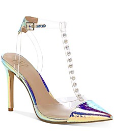 INC Women's Kahtia T-Strap Iridescent Pumps, Created For Macy's