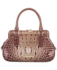 Melbourne Embossed Leather Mini Layla Satchel