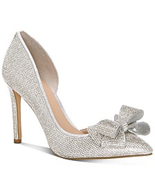 INC Women's Karee Bling Bow d'Orsay Pumps, Created for Macy's