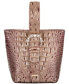 Melbourne Embossed Leather Luxe Faith Bucket Bag