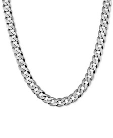 "Curb Link 26"" Chain Necklace in Sterling Silver"