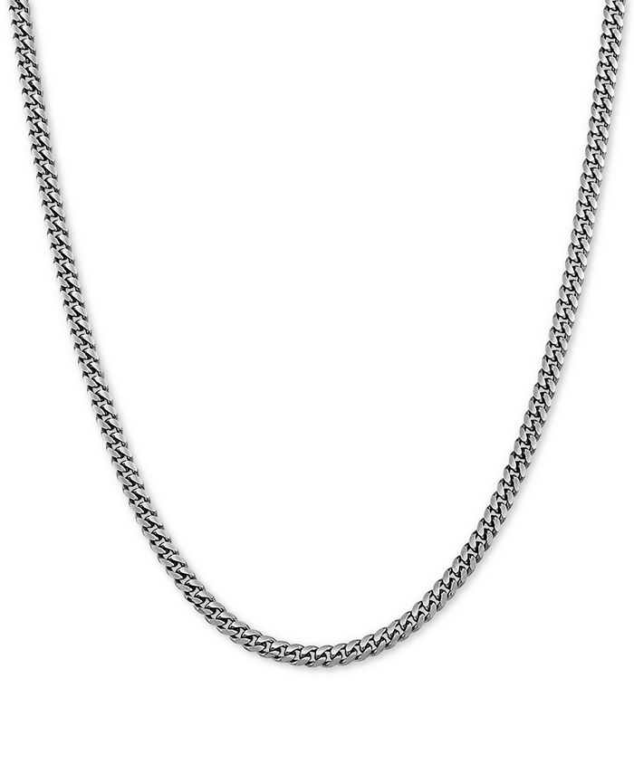 """Macy's - Cuban Link 22"""" Chain Necklace in Sterling Silver"""