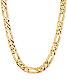 "Figaro Link 24"" Chain Necklace in 18k Gold-Plated Sterling Silver"