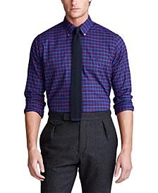 Men's Classic Fit Plaid Cotton Shirt