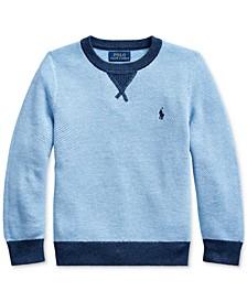 Little Boys Textured Cotton Sweater