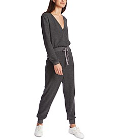 Pull-On Waffle-Knit Jumpsuit