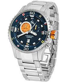 Strumento Men's Marino Porto Cervo Stainless Steel Professional Sport Performance Timepiece Watch 47mm