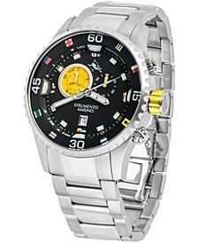 Men's Porto Cervo Professional Regatta Stainless Steel Performance Timepiece Watch 47mm