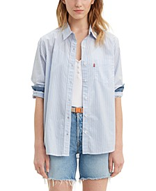 Ultimate Boyfriend Striped Cotton Shirt