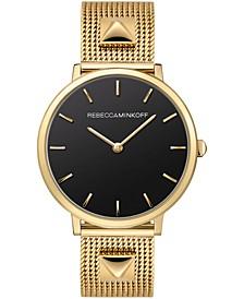 Women's Major Gold-Tone Stainless Steel Mesh Bracelet Watch 35mm
