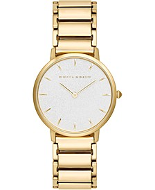 Women's Major Gold-Tone Stainless Steel Bracelet Watch 35mm