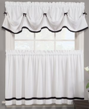 "Saturday Knight Pair of Kate 29"" x 36"" Cafe Curtains 860511"
