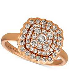 Nude Diamond Cluster Statement Ring (7/8 ct. t.w.) in 14k Rose Gold