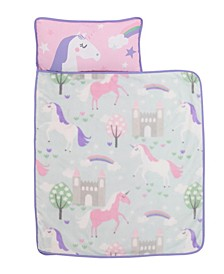 Unicorn Nap Mat with Pillow and Blanket