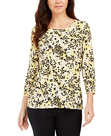 Printed Gel Dot 3/4-Sleeve Top, Created for Macy's