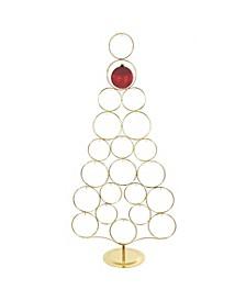 42-Inch Gold Metal Tree Rack