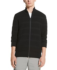 Men's Ottoman Ribbed Full-Zip Sweater