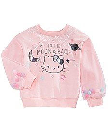Toddler Girls To The Moon & Back Pom Pom Sweatshirt