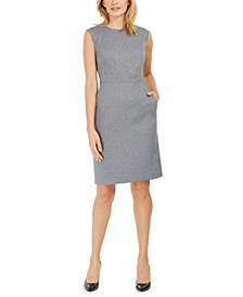Heathered Twill Sheath Dress