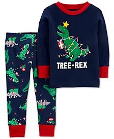 Baby Boys 2-Pc. Cotton Dinosaur Pajamas Set