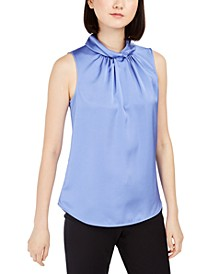 Twist-Collar Sleeveless Top