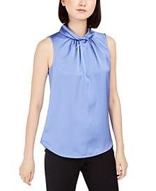 Twist-Collar Sleeveless Top