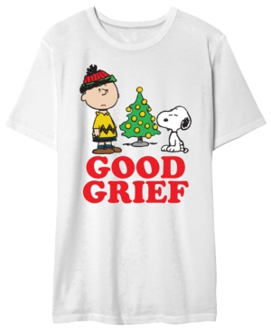 Charlie Brown Men's Good Greif Holiday Graphic T-Shirt