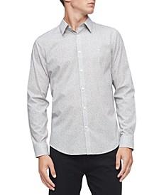 Men's Regular-Fit Stretch Geo-Print Shirt
