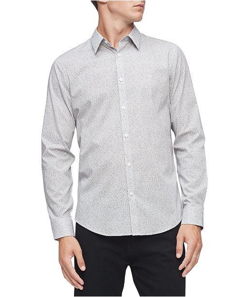 Calvin Klein Men's Regular-Fit Stretch Geo-Print Shirt