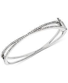 Pavé Crossover Bangle Bracelet