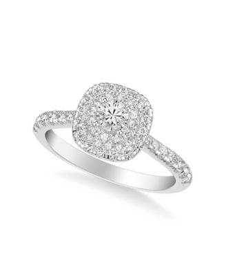 Diamond Halo Engagement Ring (3/4 ct. t.w.) in 14k White, Yellow or Rose Gold