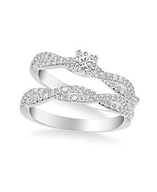 Diamond Twist Bridal Set (5/8 ct. t.w.) in 14k White, Yellow or Rose Gold