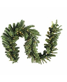 9-Foot Pre-Lit Needle Mixed Garland