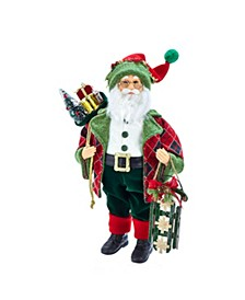 18-Inch Kringle Klaus Red and Green Santa and Gifts