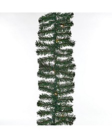 12-Foot Green Christmas Garland With 60 Warm White LED Lights