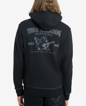 True Religion Men's Classic Logo Zip-up Hoodie In Black