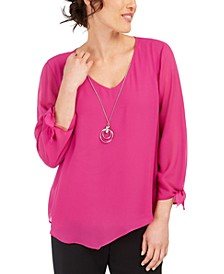 Asymmetrical Necklace Blouse, Created for Macy's