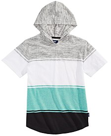 Big Boys Regency Colorblocked Stripe Hooded T-Shirt