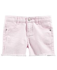 Toddler Girls Frayed Denim Shorts, Created For Macy's