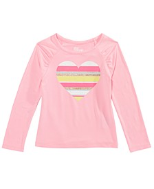 Little Girls Striped Heart T-Shirt, Created For Macy's