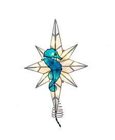 10-Light Capiz Bethleham Star with Seahorse Treetop